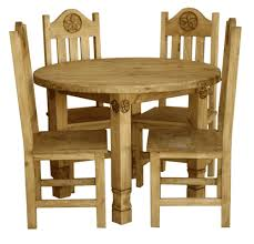 laredo round star dining table set