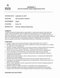 Test Engineer Resume Template Sample Test Engineer Resume Elegant Download Qa Test Engineer Sample 6