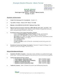 Resume Format College Student Biology Template Lovely For A