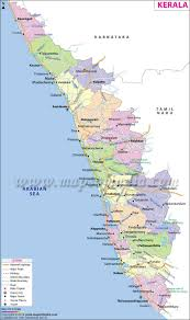 kerala map state fact and travel information