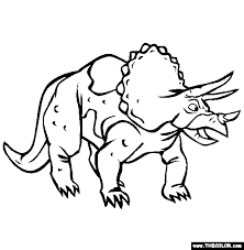 Small Picture Triceratops Coloring Page Free Triceratops Online Coloring