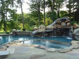 inground pools with waterfalls and hot tubs. Waterslide Hottub Rockwaterfall Connecticut Pool And Spa With Full Size Inground Pools Waterfalls Hot Tubs