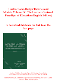 Instructional Design Theories And Models Reigeluth B O O K Instructional Design Theories And Models Volume Iv