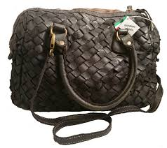 made in italy woven leather handbag