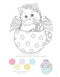 teacup kittens coloring book design originals 32 adorable expressive e cat designs from ilrator kayomi harai on high quality extra thick
