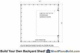 12x12 garage door12x12 Garage Door Storage Shed Plans