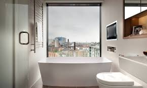 small bathroom with big view view in gallery