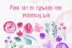 free watercolor brushes illustrator free watercolor flowers by thehungryjpeg thehungryjpeg com