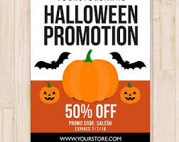 halloween sale flyer halloween sale etsy