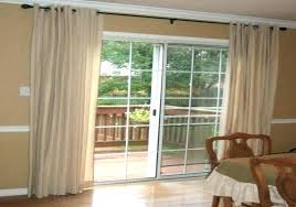 sliding door blackout curtains horizontal blinds