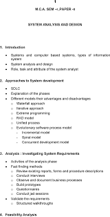 Modern Systems Analysis And Design 7th Edition Pdf Download M C A Sem I Paper Ii System Analysis And Design Pdf Free