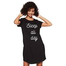 Buy Amazon Brand - Eden & Ivy Black Regular Fit Nightdress (SS19UTSDR01)  online   Looksgud.in