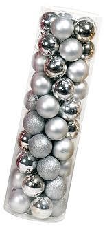 50er Satz Baumkugeln Silberfarben