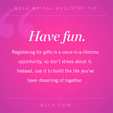bridal registry tip 5 belk bridal registry