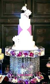 diy crystal chandelier cake stand wedding cupcake s