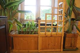 trellis planter wooden