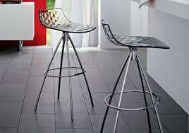 Low back transparent bar stools. The ...