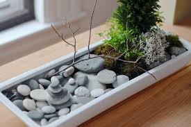 this zen garden tutorial from thirsty for tea is the perfect combination of traditional zen sand gardens to occupy the mind and the serenity of plants