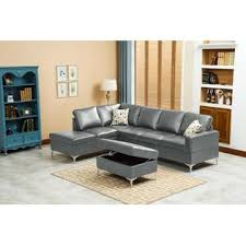 beautiful sofa living room 1 contemporary. Esofastore Classic Modern Sectional Sofa W Storage Ottoman Gray Color Beautiful Chaise Pillows Cushioned Living Room 1 Contemporary F