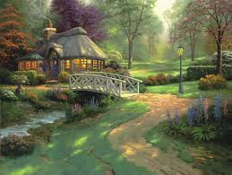 landscape art thomas kinkade new day at the cinderella castle african american art large wall art wall painting free shipp rq07 in painting calligraphy