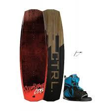 Ctrl Supreme Woodcore Wakeboard Plus Liquid Force Index Open Toe Binding Black Wakeboard Set
