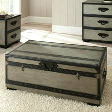 vintage trunk coffee table coffee table trunk set trunks with drawers old used beautiful gray rectangle