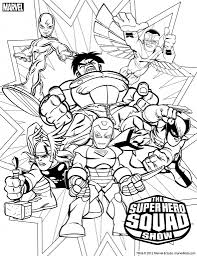 Dessin A Imprimer Super Hero Squad