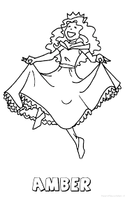 Amber Prinses Naam Kleurplaat