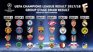 full fixtures all matches 2017 18 uefa champions league