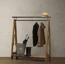Restaurant Coat Racks wood old retro clothing display rack clothing hangers coat rack 11