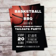 Team Get Together Invitation Basketball Bbq Family Reunion Invitation Basketball Tailgate Annual Get Together Neighborhood Block Party Company Party Printed
