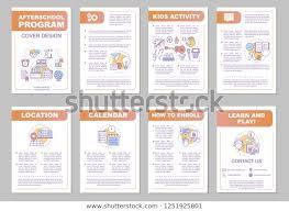 After School Program Brochure Template Layout Stock Vector