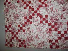 Lit and Laundry: red and white toile quilt | Quilt Inspiration ... & red and toile INSPIRED BY ANTIQUE QUILTS Adamdwight.com