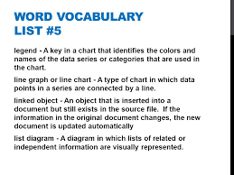 Microsoft Word Vocabulary Word Vocabulary List 5 Microsoft Office Word Vocabulary List 5 Bar