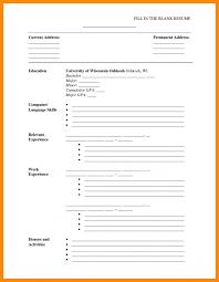 Printable Resume Templates Awesome Printable Cv Template Blank Cv Template Uk Free Basic Blank Resume