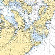 New England Nautical Charts Maine Lubec Eastport Nautical Chart Decor Maine New