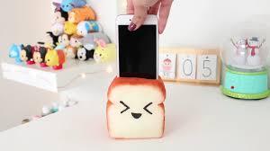 squishy bread phone holder