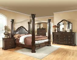 Ashley Furniture Canopy Bed Back To King Canopy Bedroom Set Black ...