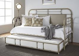 Liberty Vintage Distressed Twin Metal Day Bed w Trundle Vintage