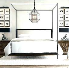 Black Canopy Bed Frame Queen Size Beds Ideas With White Cover On ...