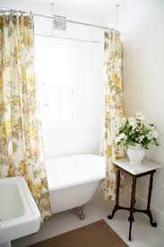 grey and yellow fabric fl shower curtains for white wallpaper pattern