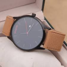 mvmt watches black face tan leather strap men s watch