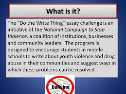 "essay contest what is it the ""do the write thing"" essay  2 what"