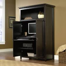 colored corner desk armoire. Neutral Brown Interior Painting Idea Also Plait Basket For Blanket Storage And Contemporary Corner Computer Armoire Colored Desk