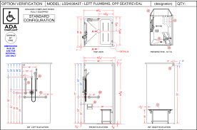 4lss4238a5t four piece 42 x 38 ada transfer shower barrier free beautiful ada compliant pertaining to 17
