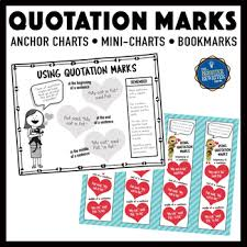 Quotation Marks Anchor Chart Quotation Marks Anchor Charts