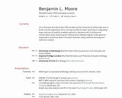Academic Resume Sample Resume Templates Academic Sample Pdf Cv Phd Application Word Example 37