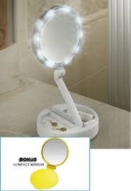 Portable Vanity Mirror With Lights New Amazon Lighted Bright Leds Foldaway Portable Vanity Mirror 32x