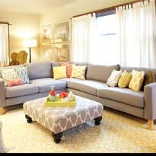 Yellow And Gray Living Room Living Room Gray Benches Gray Sofa White Chaise Lounges White