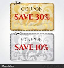 10 Off Coupon Template Discount Coupon Voucher Vector Background Template Gold